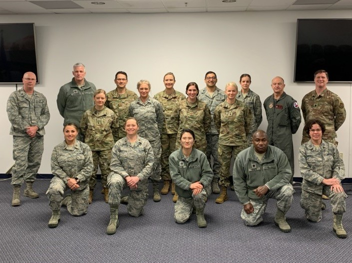 301st Medical Squadron just before deployment to New York City